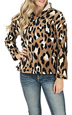 Berry N Cream Women's Brown Leopard Pullover