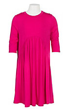 James C Girls Pink 3/4 Sleeve Peasant Dress