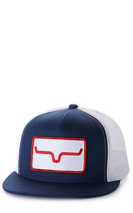 Kimes Ranch Banner Ventilated Navy and White with Logo Patch Cap