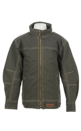 Rafter C Boys Gunmetal Canvas Jacket