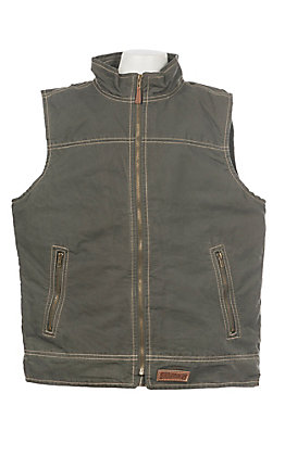Rafter C Boys Gunmetal Grey Canvas Vest