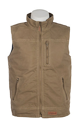 Rafter C Boys Khaki Canvas Vest
