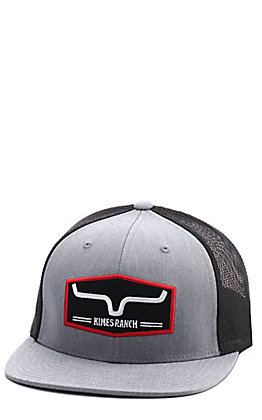 Kimes Ranch Replay Trucker Heather Grey & Black Cap
