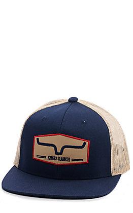 Kimes Ranch Replay Trucker Navy & Cream Cap