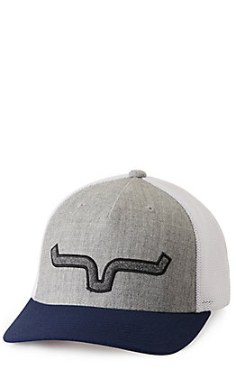 Kimes Ranch Soft Serve Trucker Grey, Navy and White Logo Cap