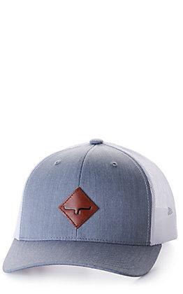 Kimes Ranch Diamond Grey and White Logo Patch Cap