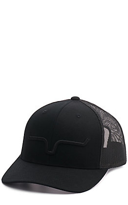 Kimes Ranch Black on Black Mesh Back Cap