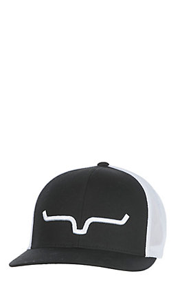 Kimes Ranch Black Logo Trucker Cap