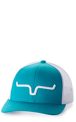 Kimes Ranch Weekly Trucker Teal & White Cap