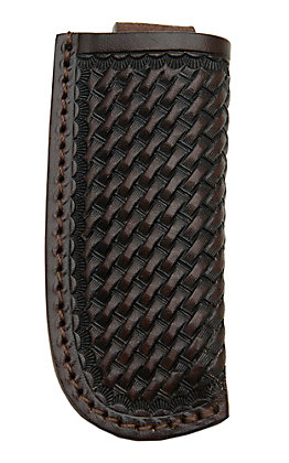 Ranger Belt Company Dark Brown Basket Weave Leather Knife Sheath