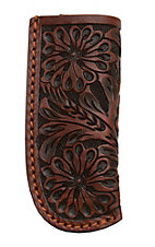 Ranger Belt Company Cognac Floral Leather Knife Sheath