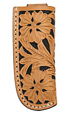 Ranger Belt Company Black & Natural Floral Leather Knife Sheath