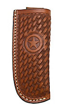 Ranger Belt Company Tan Basket Weave with Star Leather Knife Sheath