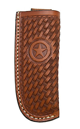Ranger Belt Company Tan Basket Weave with Star Leather Knife Sheath