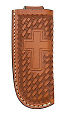 Ranger Belt Company Tan Basket Weave with Cross Leather Knife Sheath