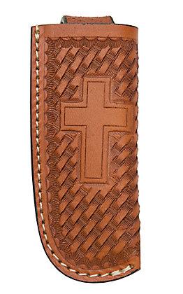 Ranger Belt Company Tan Basket Weave with Cross Leather Knife Sheath