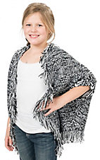 Flying Tomato Girl's Black & White Sweater Cardy