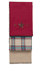 HiEnd Accents Red Star Kitchen Towel Set