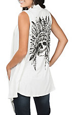 Cowgirl Legend Women's Cream with Indian Skull Vest