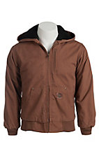 Cowboy Work Wear Boy's Brown Hooded Jacket