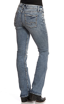 Silver Women's Medium Wash Elyse Slim Boot Jeans