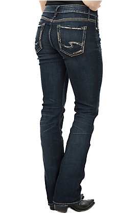 Silver Jeans Women's Elyse Mid Rise Curvy Relaxed Slim Bootcut Jeans