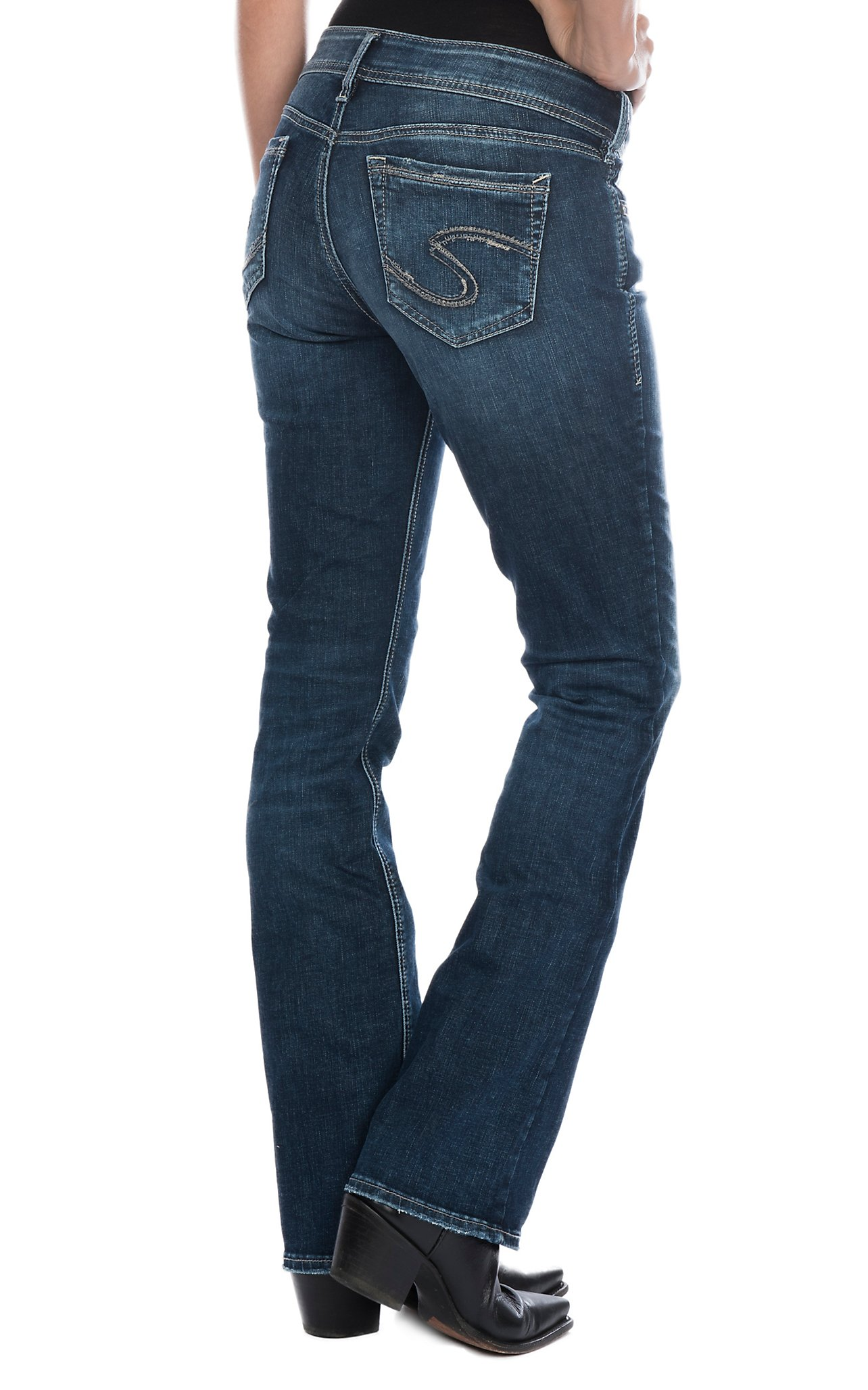 Shop womens western jeans free shipping 50 cavenders silver jeans womens elyse slim boot cut jeans geenschuldenfo Images