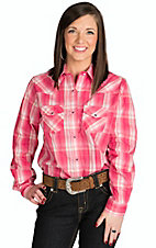 Wired Heart Women's Pink Plaid Western Shirt