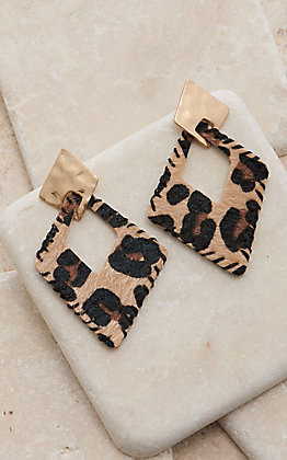 Amber's Allie Leopard Diamond Dangle Earrings