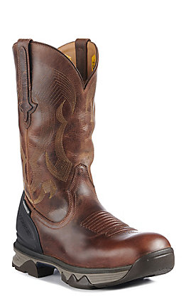 Lucchese Frontier Men's Hickory Performance Molded Square Toe Work Boots