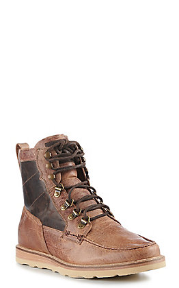 Lucchese Men's Frontier Tan Lace Up Range Boot