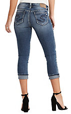 Silver Women's Medium Wash Suki Capri Jeans