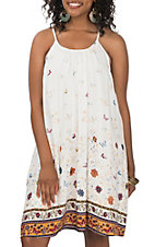 Hem and Thread Women's White Floral Print
