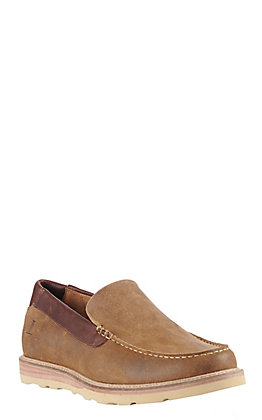 Lucchese Men's Suede After-Ride Slip On Moccasin