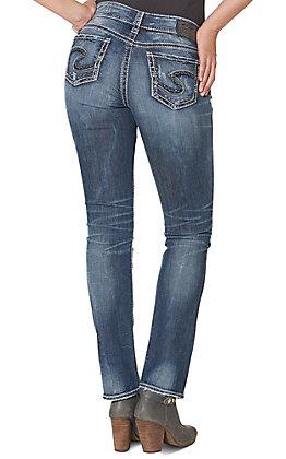Silver Women's Dark Suki Mid Straight Jeans