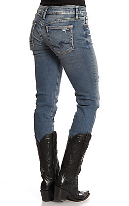 Silver Women's Denim Suki Mid Straight Leg Jeans