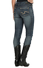 Silver Jeans Medium Wash Suki Mid Rise Straight Leg Jean