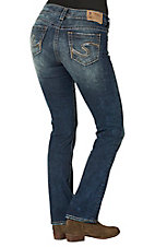 Silver Jeans Women's Medium Wash Suki Mid Rise Slim Boot Cut Jeans