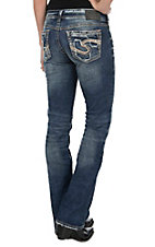 Silver Jeans Light Wash Suki Mid Rise Boot Cut Jeans