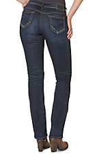Silver Women's Dark Suki Mid Slim Boot Cut Jeans