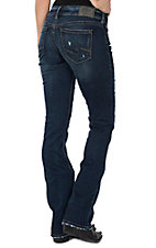 Silver Jeans Women's Suki Slim Dark Wash Boot Cut Jeans