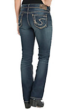 Silver Jeans Women's Medium Wash Suki Mid Rise Relaxed Fit Slim Boot Cut Jean - Regular & Plus Size