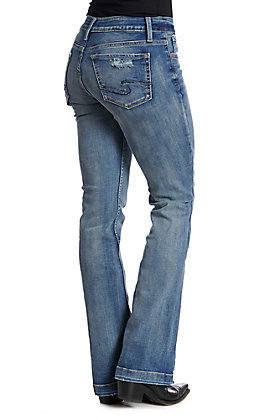 Silver Jeans Suki Light Wash Relax Fit Boot Cut Jeans