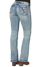 Silver Jeans Women's Light Medium Wash Suki Mid Rise Boot Cut Jeans