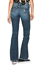 Silver Jeans Women's Medium Distressed Suki Boot Cut Jeans