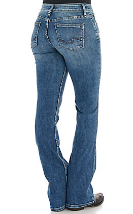 Silver Women's Suki Medium Wash Curvy Fit Boot Cut Jeans