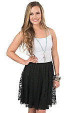 Wired Heart Women's Black Lace Skirt
