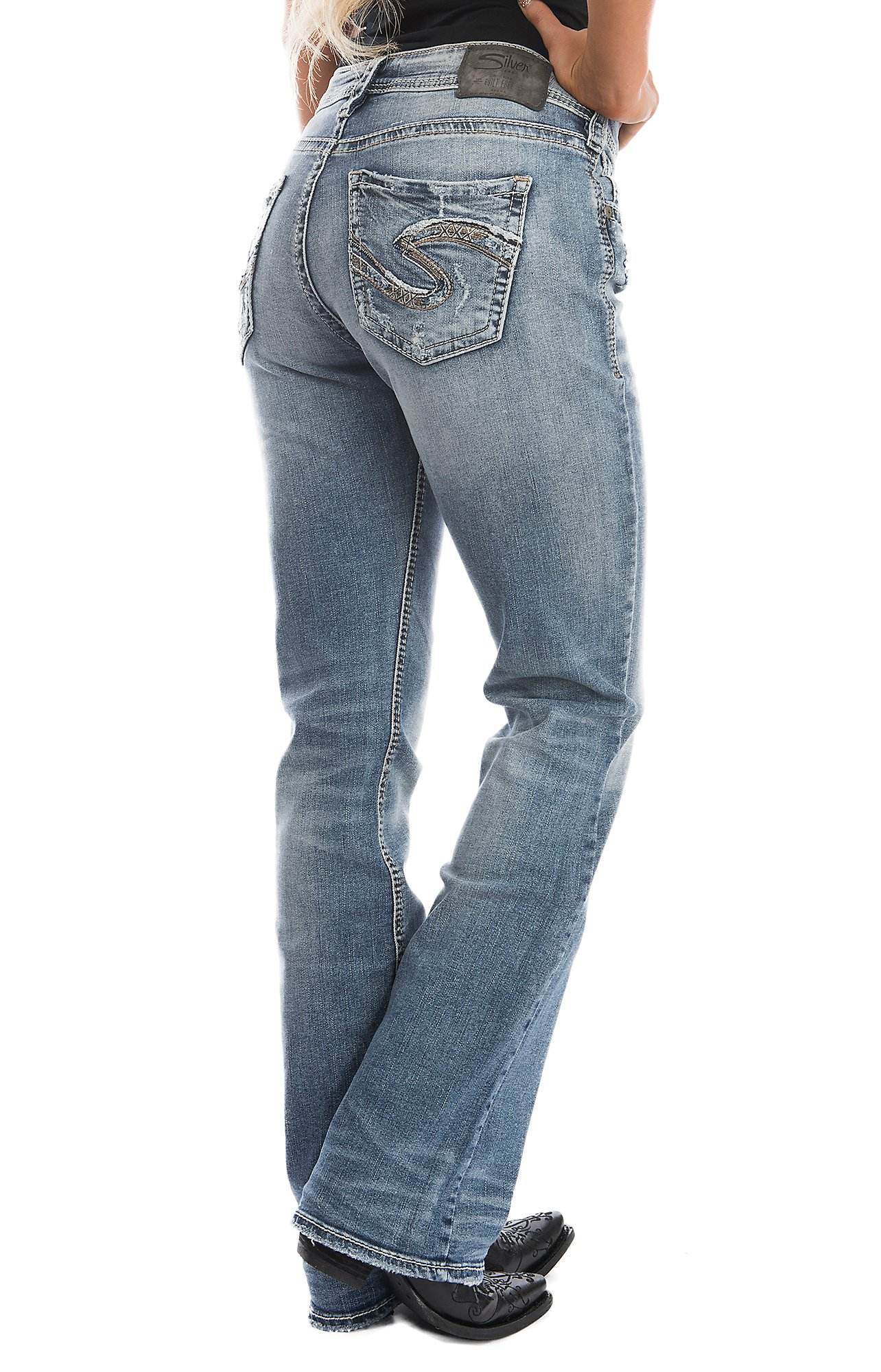 Silver Jeans Suki Women's Indigo High Boot Cut Jeans | Cavender's