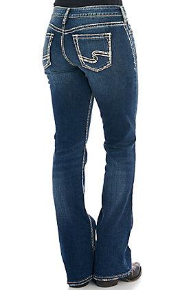Silver Women's Suki Dark Wash Curvy Fit Boot Cut Jeans