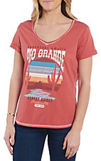 Panhandle Women's Red Rio Grande Short Sleeve Shirt